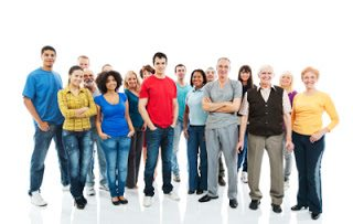 Portrait of a large group of a Mixed Age people smiling and standing together. [url=http://www.istockphoto.com/search/lightbox/9786738][img]http://dl.dropbox.com/u/40117171/group.jpg[/img][/url]