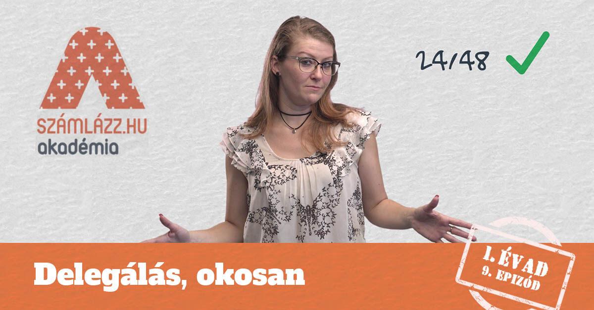 Delegálás, okosan - Számlázz.hu Akadémia, I. évad, 9. epizód