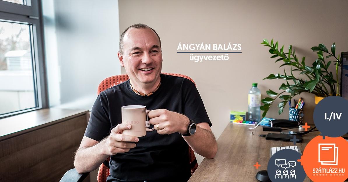 Ángyán Balázs, a Számlázz.hu ügyvezetője