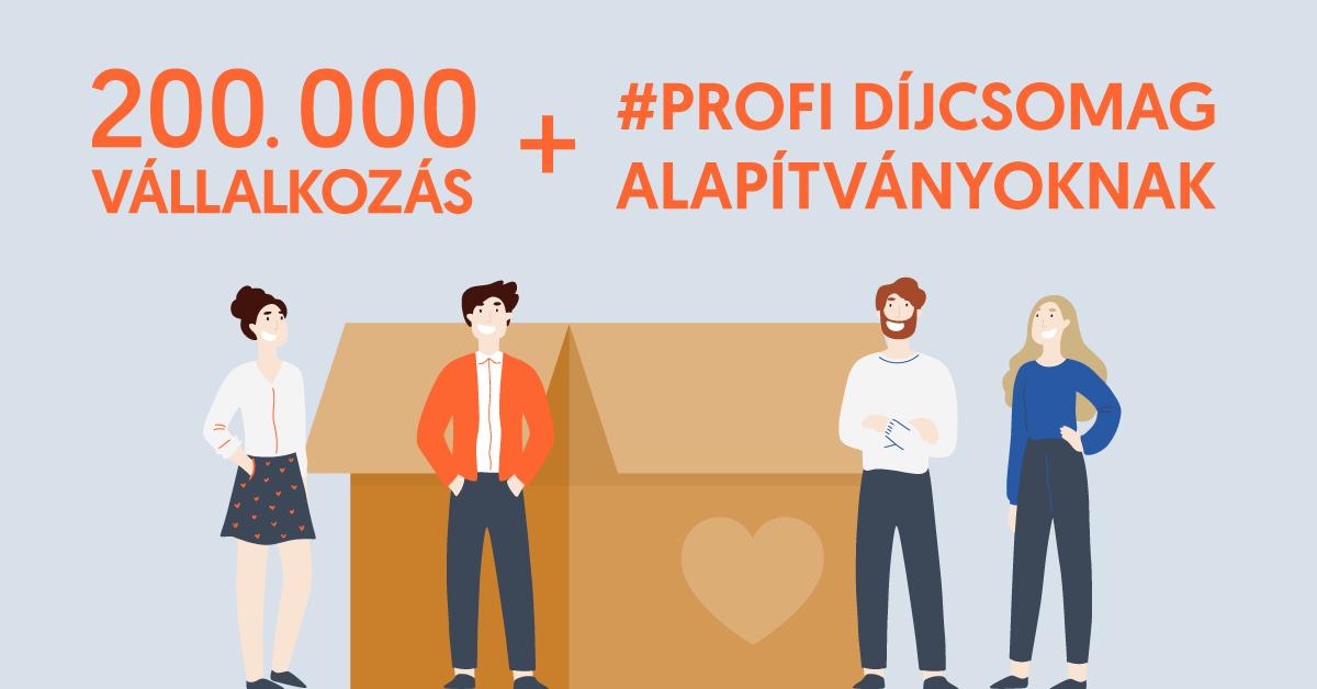 200 000 vállalkozás, ingyen #profi csomag alapítványoknak