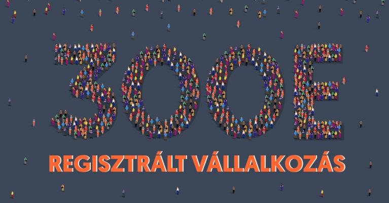 300 000 regisztrált vállalkozás